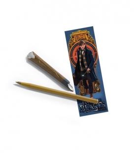 Bolígrafo y marca página Newt Scamander - Animales Fantásticos  - The Noble Collection
