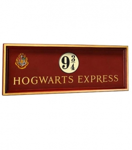 Placa del andén 9 3/4 Harry Potter The Noble Collection