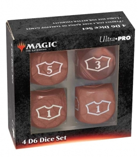 Dados de 6 caras Deluxe Loyalty 22mm para Magic the Gathering Rojo