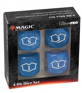 Dados de 6 caras Deluxe Loyalty 22mm para Magic the Gathering Azul