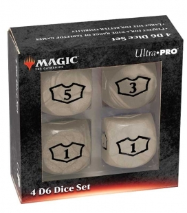Dados de 6 caras Deluxe Loyalty 22mm para Magic the Gathering Blanco