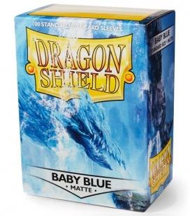 Fundas Standard Dragon Shield Matte Baby Blue - Paquete de 100