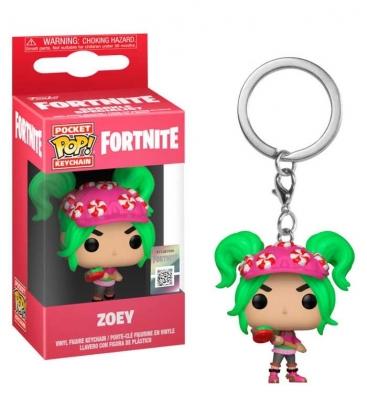 Funko Keychain de Zoey Fortnite. Llavero