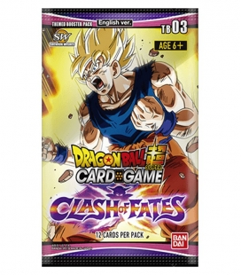 Dragon Ball Super Card Game Caja de sobres Clash of Fates Themed Booster 3 Inglés