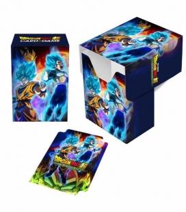 Caja de mazo Dragon Ball Super  Full-View Deck Box Goku, Vegeta, and Broly Ultra Pro