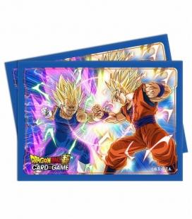 Fundas Ultra Pro  Dragon Ball Super Standard Size Deck Protector 65ct Vegeta vs Goku. - Paquete de 65