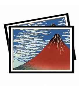 Fundas Standard  Ultra Pro - Featuring Historic Art - Red Fuji - 65 Sleeves  - Paquete de 65