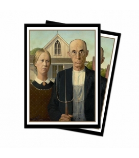 Fundas Standard  Ultra Pro - Featuring Historic Art - American Gothic - 65 Sleeves  - Paquete de 65