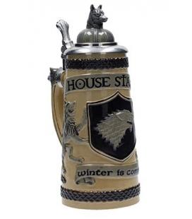 Jarra cerámica con relieve Casa Stark. Juego de Tronos