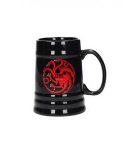Jarra cerámica negra Targaryen. Juego de Tronos