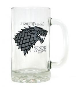 Jarra cerveza Winter is Coming Stark. Juego de Tronos