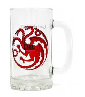 Jarra cerveza Fire and Blood Targaryen. Juego de Tronos