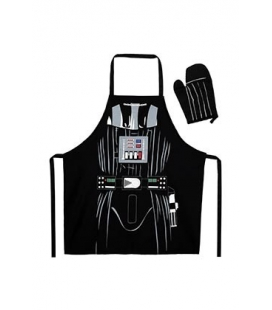 Delantal y manopla Darth Vader. Star Wars