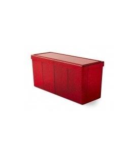 Caja de mazo Dragon Shield Cuatro compartimentos - Para 320 cartas. Color Ruby