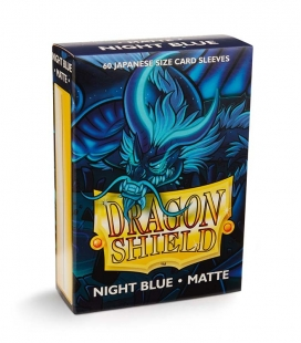 Fundas Small Dragon Shield Matte Night Blue - Paquete de 60
