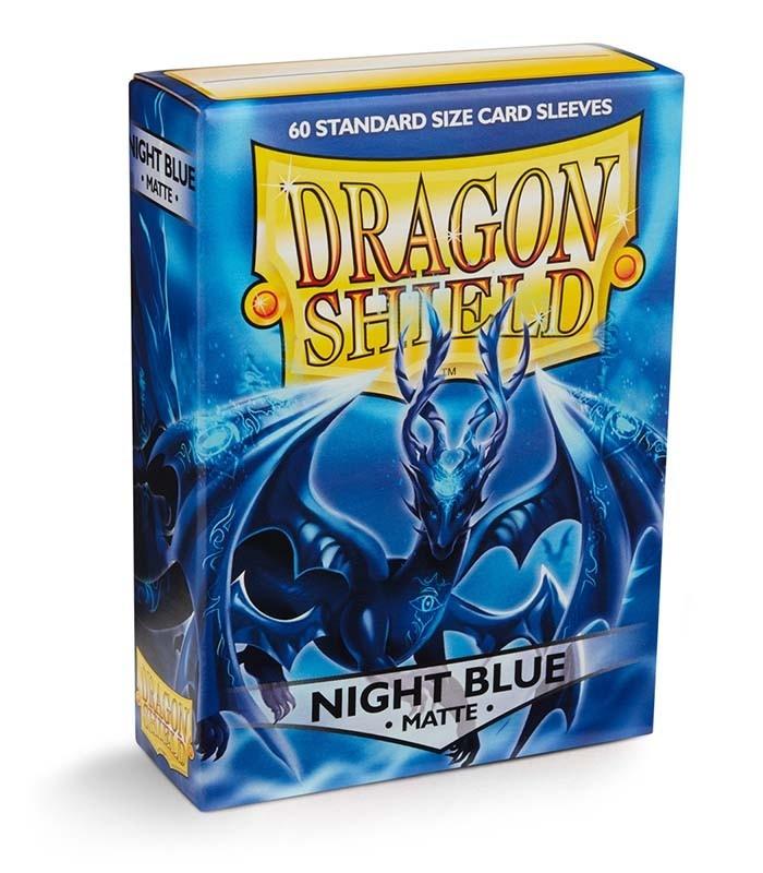 Fundas Standard Dragon Shield Matte Color Night Blue - Paquete de 60