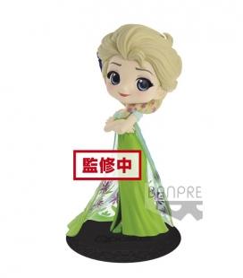 Figura Q posket Disney Character - Elsa Surprise Coordinate- (ver.A) 14cm de Banpresto