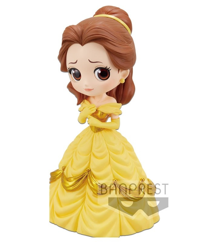 Figura Q posket Disney Characters - Belle-(A Normal color ver) 14cm de Banpresto