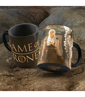 DRAGON & DAENERYS TAZA CERAMICA GAME OF THRONES. Juego de Tronos