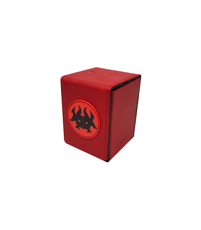 Caja de mazo Alcove Flip Box Rakdos Ultra Pro rojo