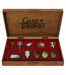 Set Pins Metálicos deluxe Game of Thrones / Juego de Tronos