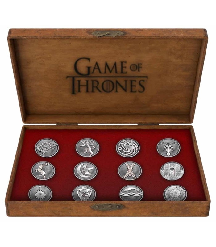 Set Emblemas pins metálicos Deluxe Game of Thrones / Juego de Tronos